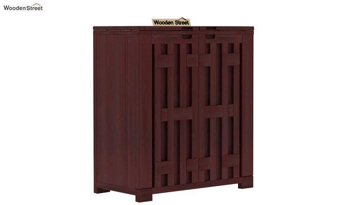 Malus Bar Cabinet (Mahogany Finish)-3