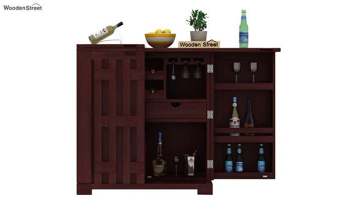 Malus Bar Cabinet (Mahogany Finish)-5
