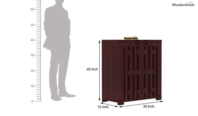 Malus Bar Cabinet (Mahogany Finish)-6