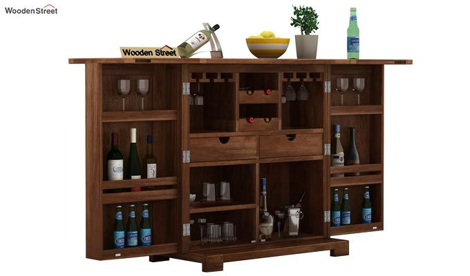 Malus Bar Cabinet (Teak Finish)-1