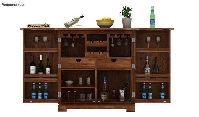 Malus Bar Cabinet (Teak Finish)-2