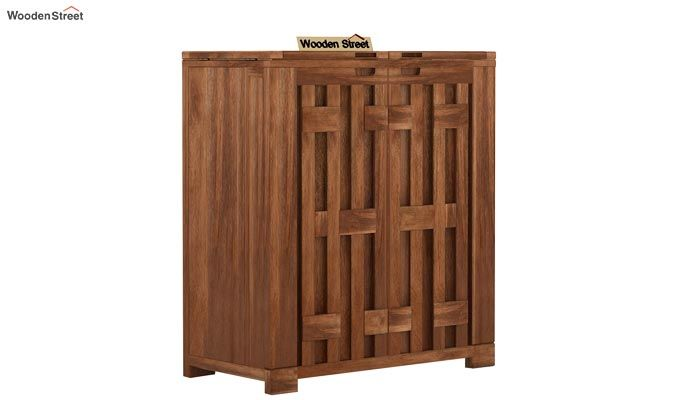 Malus Bar Cabinet (Teak Finish)-3