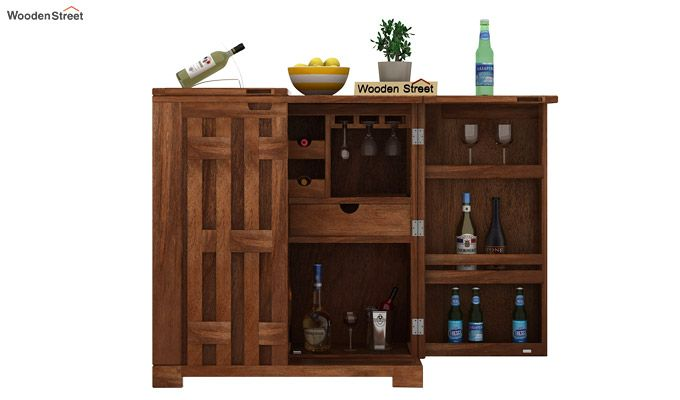 Malus Bar Cabinet (Teak Finish)-5