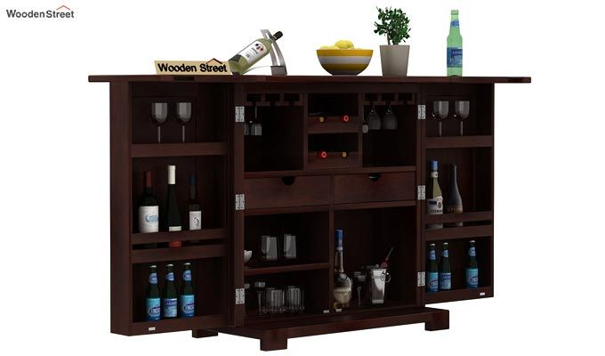 Malus Bar Cabinet (Walnut Finish)-1