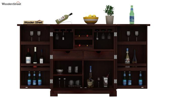 Malus Bar Cabinet (Walnut Finish)-2