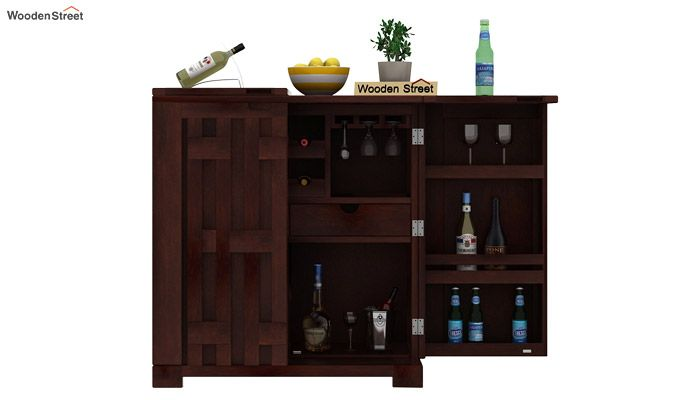 Malus Bar Cabinet (Walnut Finish)-5