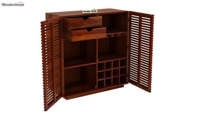 Milo Bar Cabinet (Honey Finish)-5