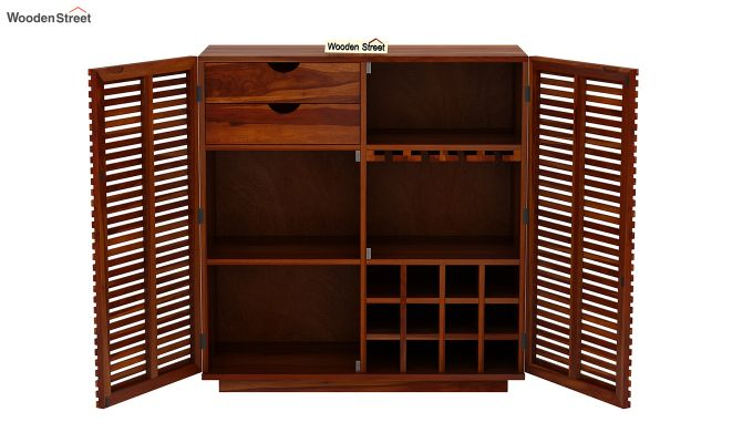 Milo Bar Cabinet (Honey Finish)-6