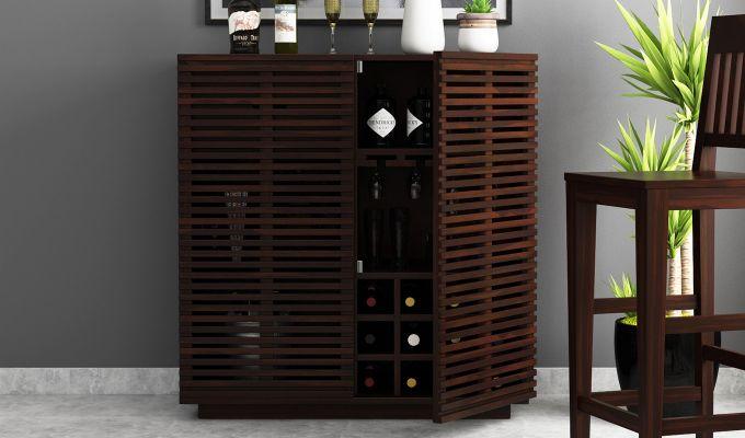 Milo Bar Cabinet (Walnut Finish)-2
