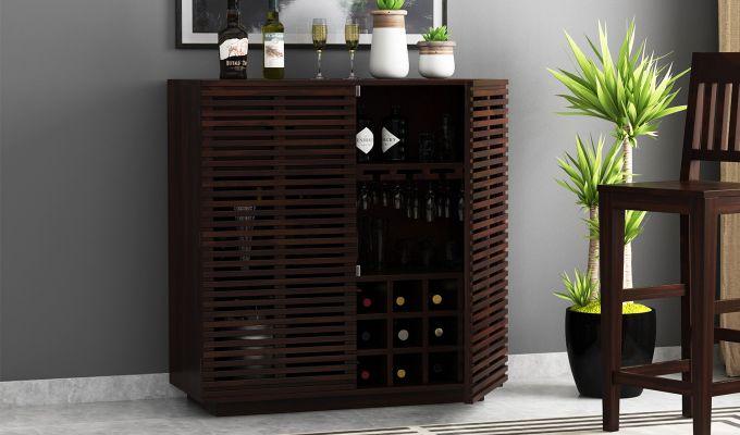 Milo Bar Cabinet (Walnut Finish)-1