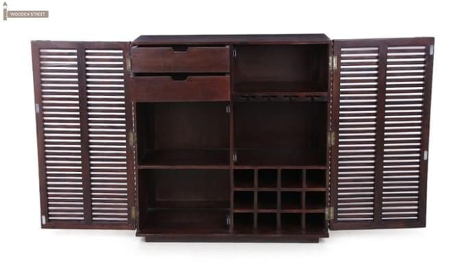 Milo Bar Cabinet (Mahogany Finish)-7