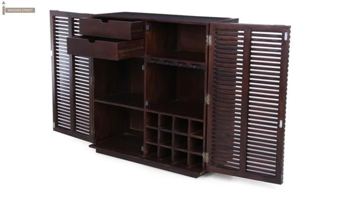 Milo Bar Cabinet (Mahogany Finish)-8