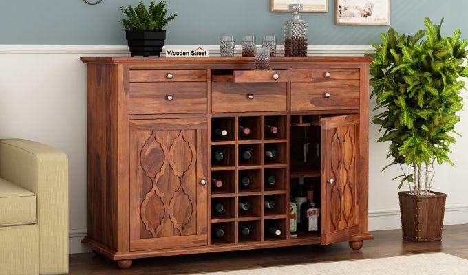 Montana Bar Cabinet (Honey Finish)-1
