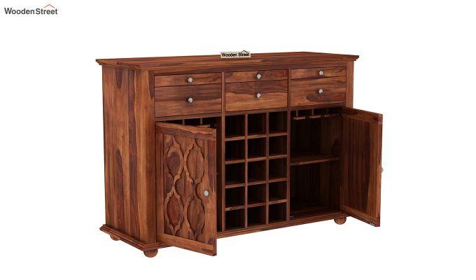 Montana Bar Cabinet (Honey Finish)-4