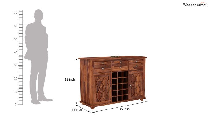 Montana Bar Cabinet (Honey Finish)-6