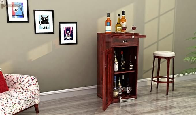 Nevil Bar Cabinet (Mahogany Finish)-1