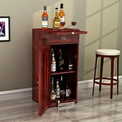 Nevil Bar Cabinet (Mahogany Finish)