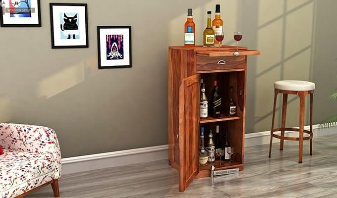 Nevil Bar Cabinet (Teak Finish)-1