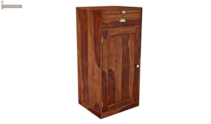 Nevil Store Bar Cabinet (Honey Finish)-2