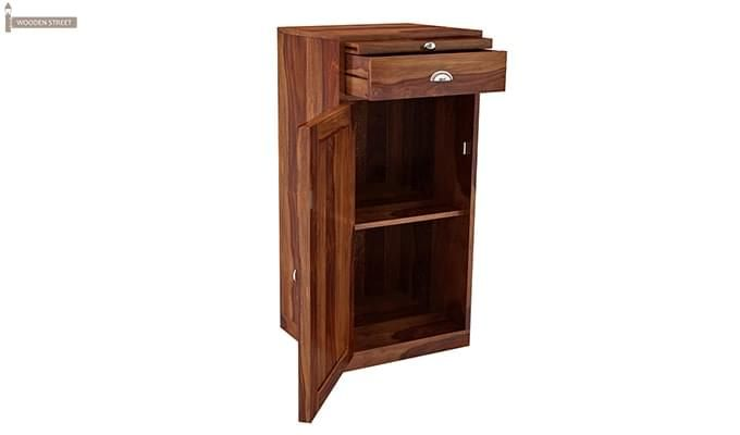Nevil Store Bar Cabinet (Honey Finish)-4