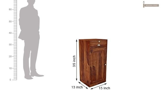 Nevil Bar Cabinet (Teak Finish)-5