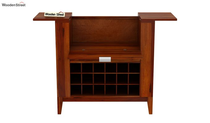 Normandy Bar Cabinet (Honey Finish)-5