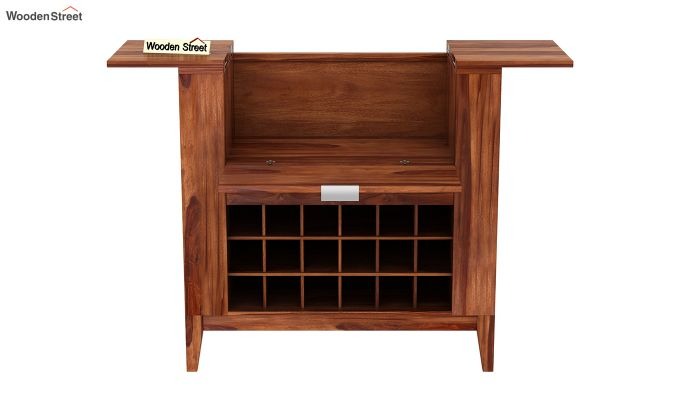 Normandy Bar Cabinet (Teak Finish)-5
