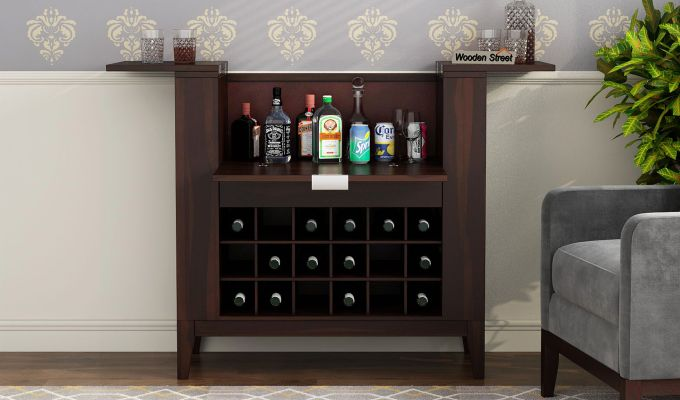 Normandy Bar Cabinet (Walnut Finish)-2