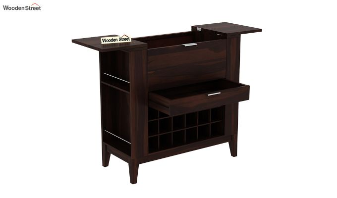 Normandy Bar Cabinet (Walnut Finish)-7