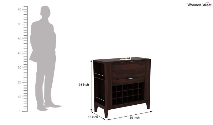 Normandy Bar Cabinet (Walnut Finish)-8