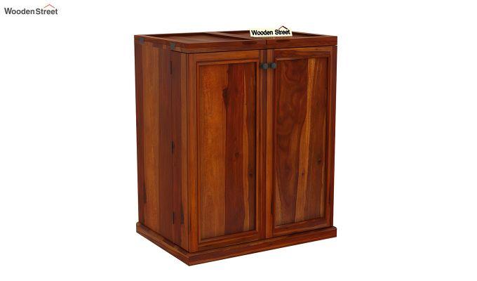 Norris Bar Cabinet (Honey Finish)-3