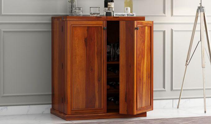 Norris Bar Cabinet (Honey Finish)-2