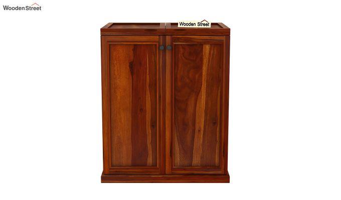 Norris Bar Cabinet (Honey Finish)-4