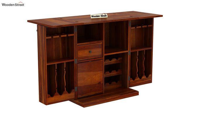 Norris Bar Cabinet (Honey Finish)-5