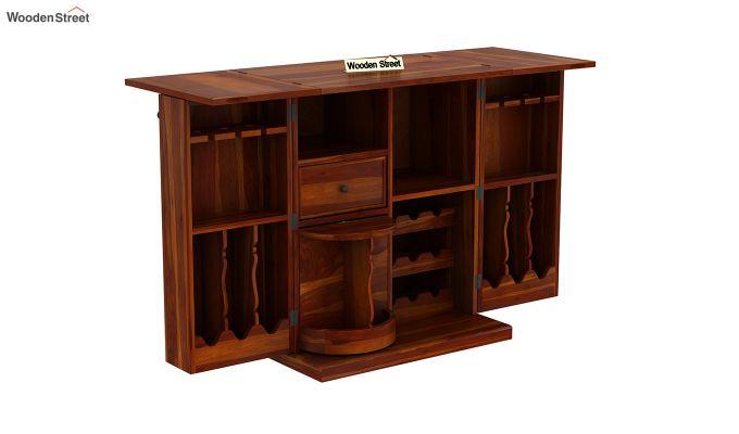 Norris Bar Cabinet (Honey Finish)-7