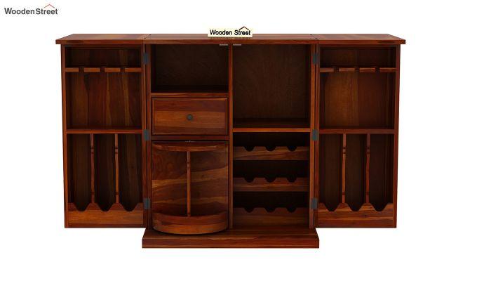Norris Bar Cabinet (Honey Finish)-8