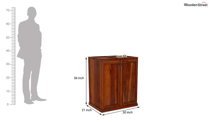Norris Bar Cabinet (Honey Finish)-9