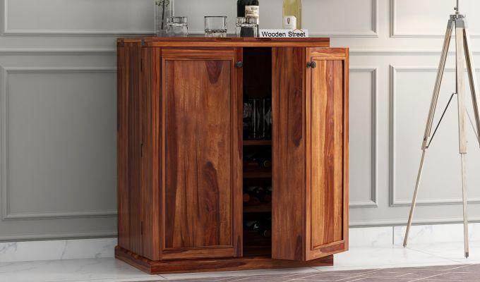 Norris Bar Cabinet (Teak Finish)-2