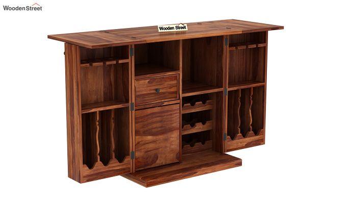 Norris Bar Cabinet (Teak Finish)-5
