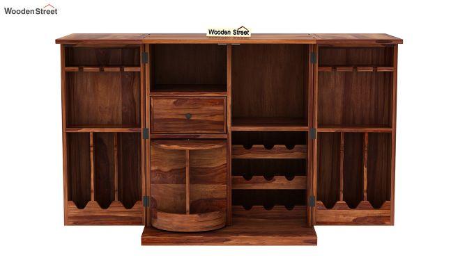 Norris Bar Cabinet (Teak Finish)-8