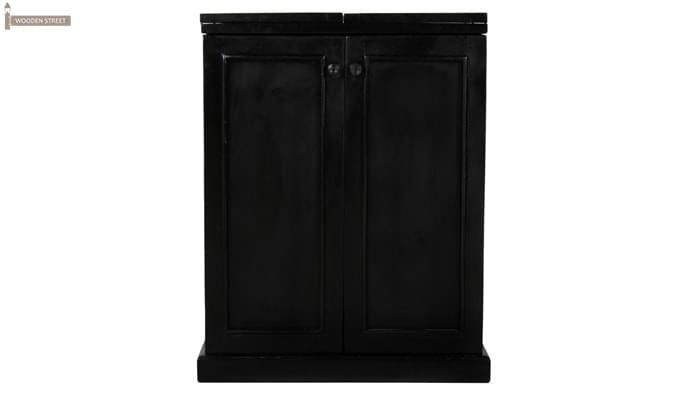 Norris Bar Cabinet (Black Finish)-3