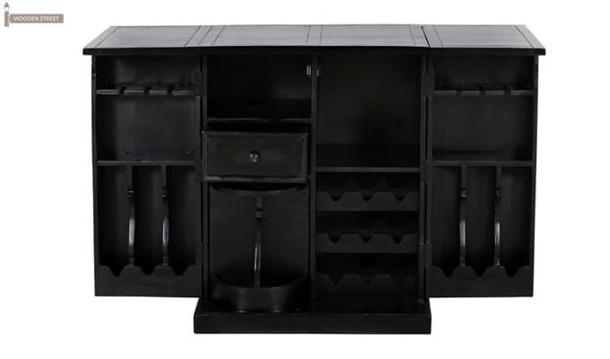 Norris Bar Cabinet (Black Finish)-4