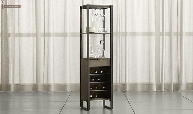 Octanol Bar Cabinet (Black Finish)-1