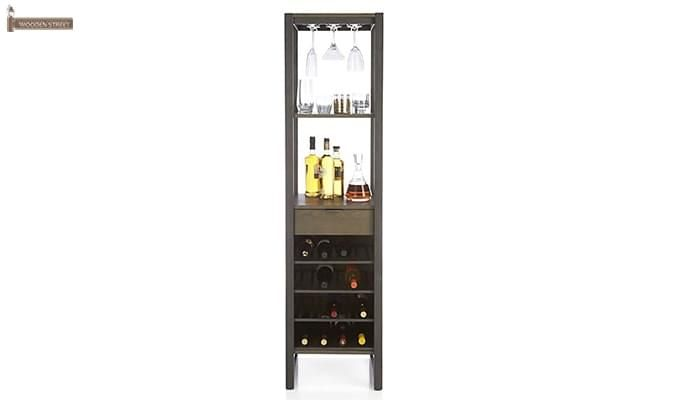 Octanol Bar Cabinet (Black Finish)-2