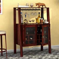 Ortega Bar Cabinet (Mahogany Finish)