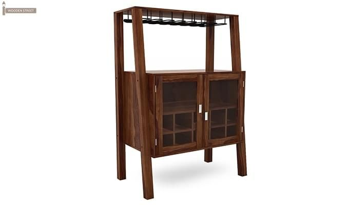 Ortega Bar Cabinet (Teak Finish)-1