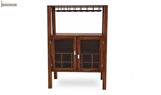 Ortega Bar Cabinet (Teak Finish)-2