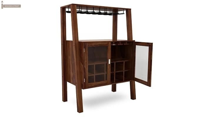 Ortega Bar Cabinet (Teak Finish)-3