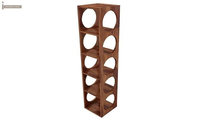 Osborn Wine Rack (Teak Finish)-4