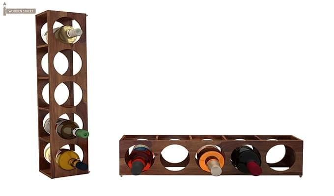 Osborn Wine Rack (Teak Finish)-5
